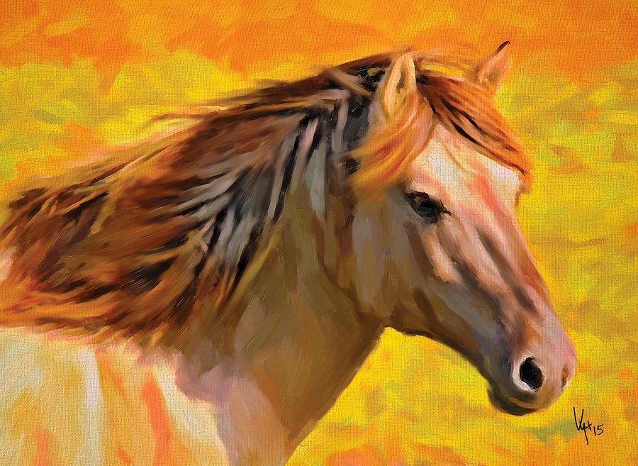 Horse Art Running Horse Painting Art Equestrian Decor Horse Wall Art ...