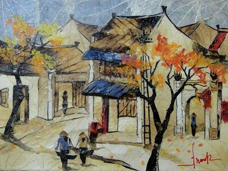 Ha Noi Classic Street Painting by Nguyen Thu Ha