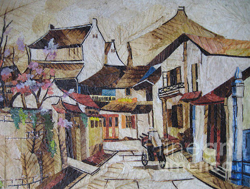 Hand-made Painting - Ha Noi Classic Street by Tran Thu Thuy