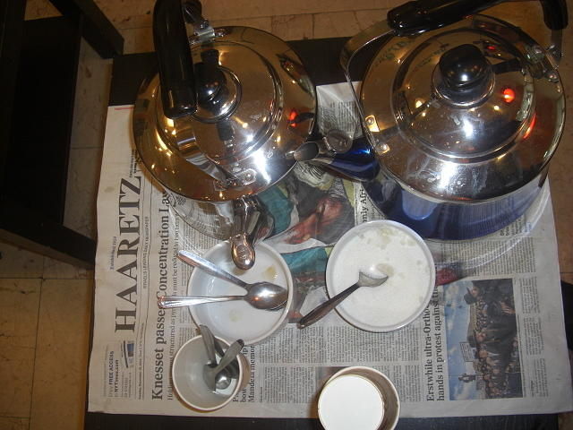Haaretz with coffee pots by Liliane DUMONT-BUIJS