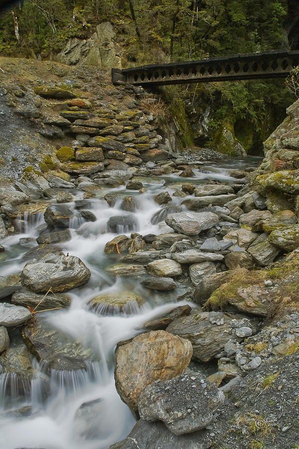 Haast Photograph - Haast Waterfall by Andrea Cadwallader