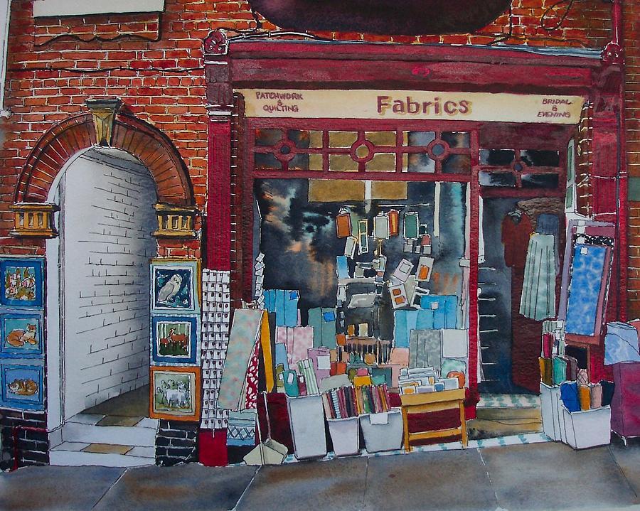 Shop Painting - Haberdashery by Victoria Heryet