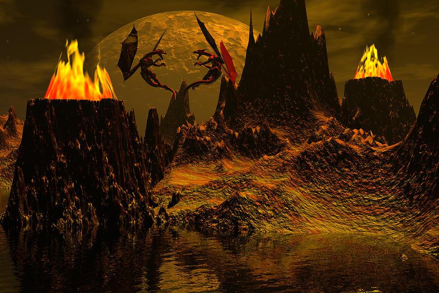 Bryce Digital Art - Habitation Of Dragons by Claude McCoy