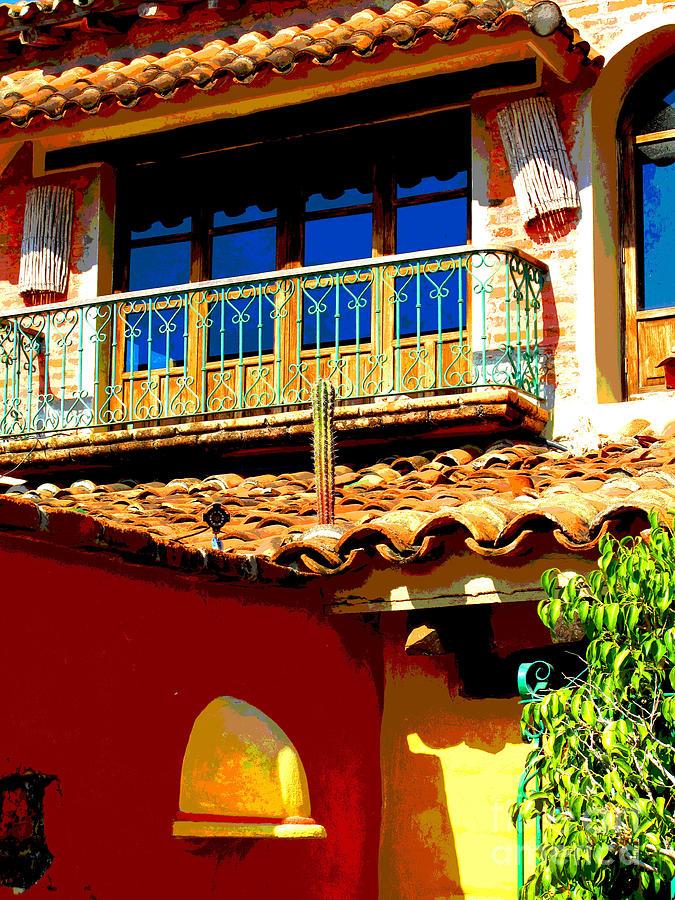 Darian Day Photograph - Hacienda Balcony By Darian Day by Mexicolors Art Photography