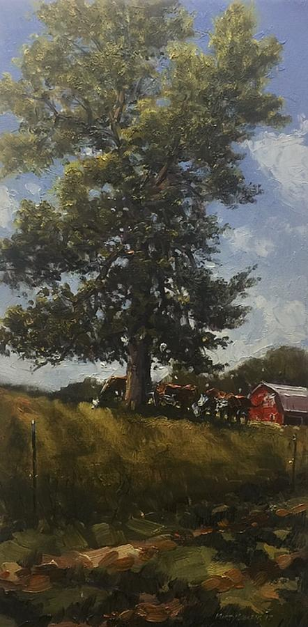 Landscape Painting - Hackberry Shade by Marty Coulter