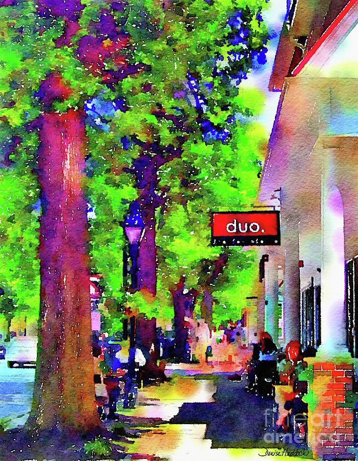 Haddonfield Painting - Haddonfield Downtown by Denise Haddock