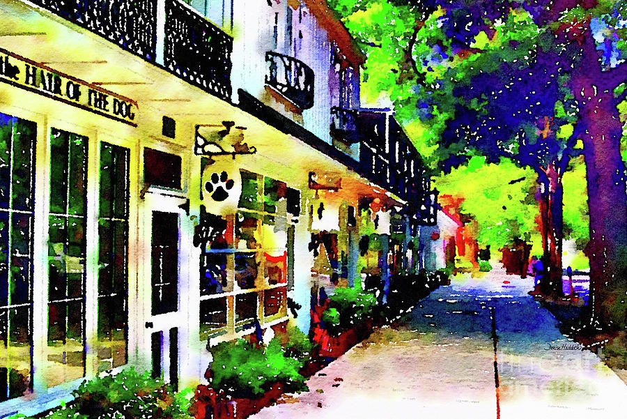 Haddonfield Painting - Haddonfield Tanner Street by Denise Haddock