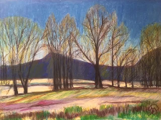 Hadley Landscape Pastel by Therese Legere
