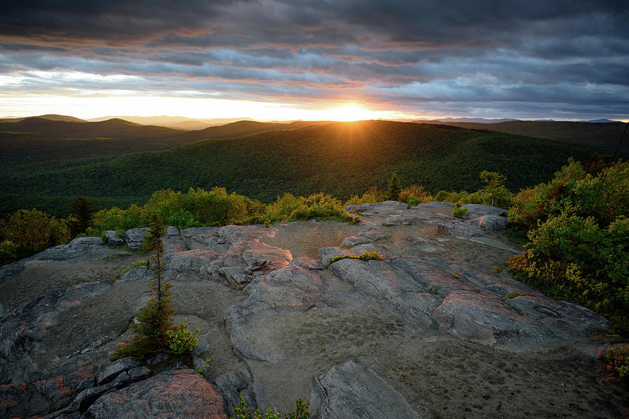 Hadley Mountain Sunset by Brad Wenskoski