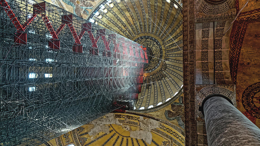 Ceiling of the Hagia Sofia, Istanbul 2009 by Chris Honeyman