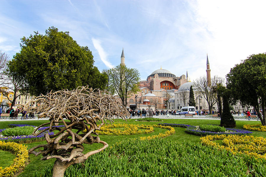 Ancient Photograph - Hagia Sophia, Istanbul by Freepassenger By Ozzy CG