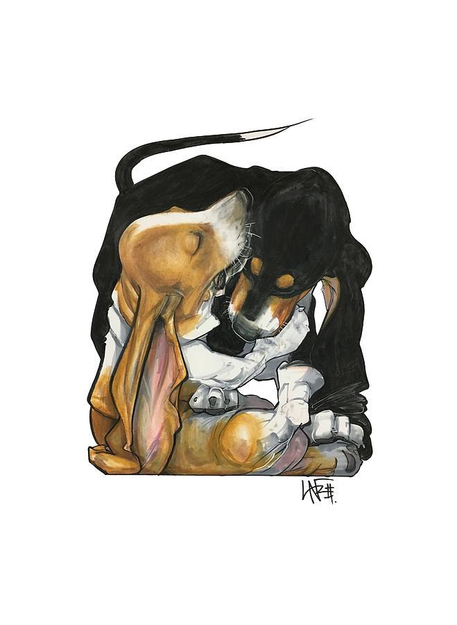 Pet Portrait Drawing - Haight 3020 by John LaFree