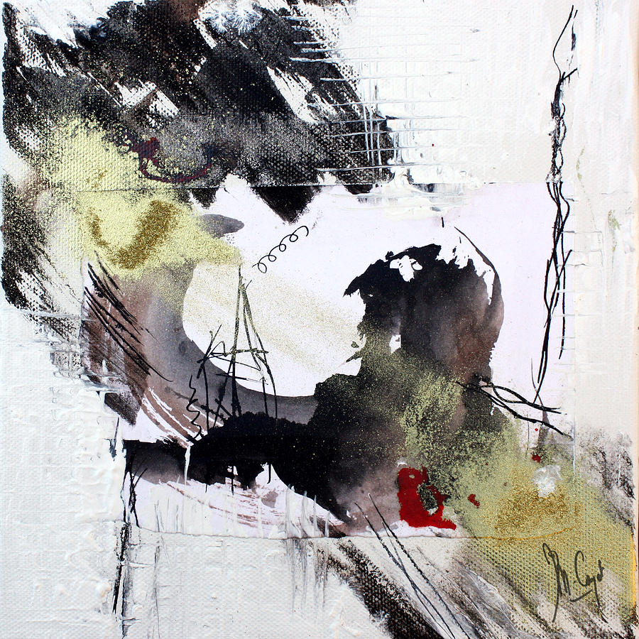 Ink Painting - Haiku 10 by Muriel Cayet