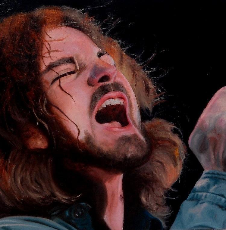 Eddie Vedder Painting - Hail Hail by Jena Rockwood