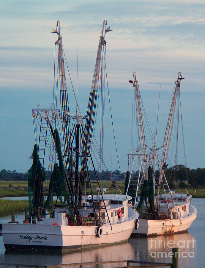 Shrimp Boats Photograph - Hailey Marie by Melanie Snipes