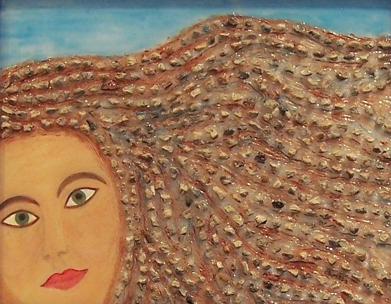 Contemporary Painting - Hair by Anneliese Fritts