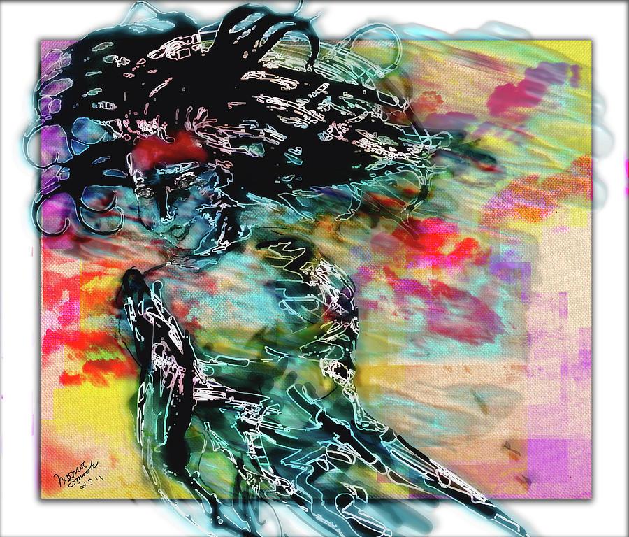 Watercolor Digital Art - Hair Raiser by Monroe Snook