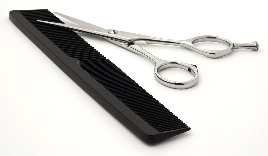 hair scissors and comb photograph by blink images