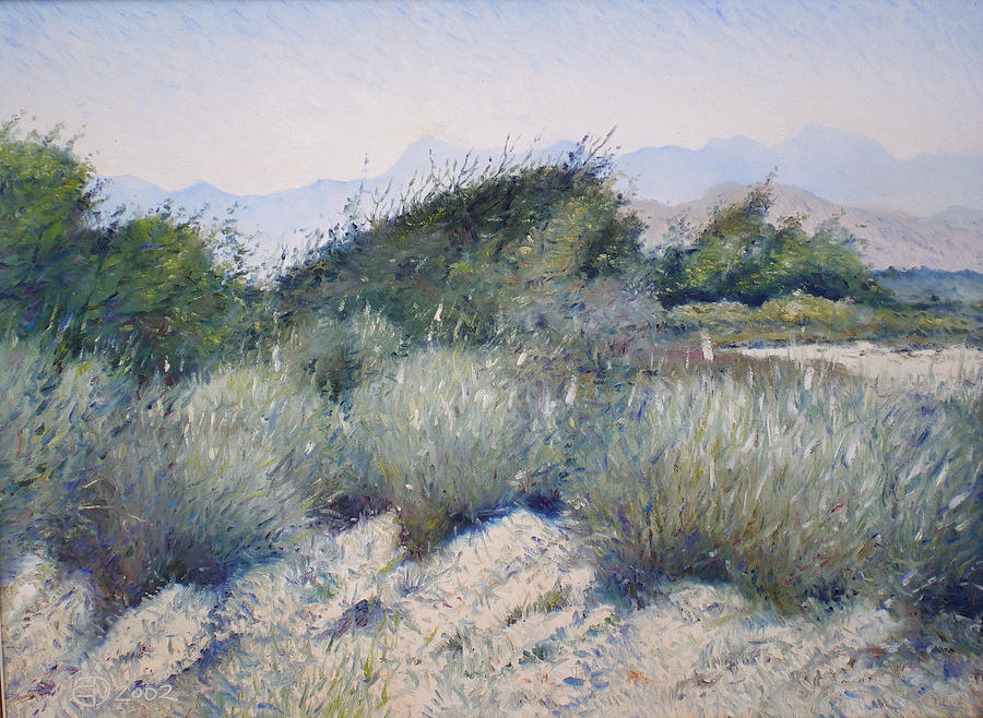Impressionism Painting - Hajar Mountains Oman 2002 by Enver Larney