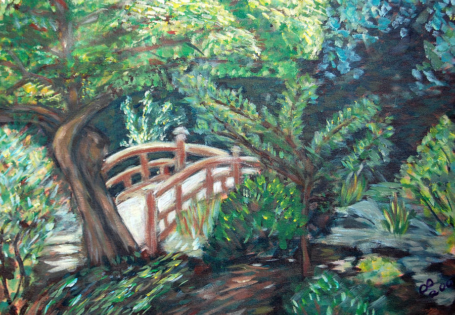 Japanese Garden Painting - Hakone Garden by Carolyn Donnell