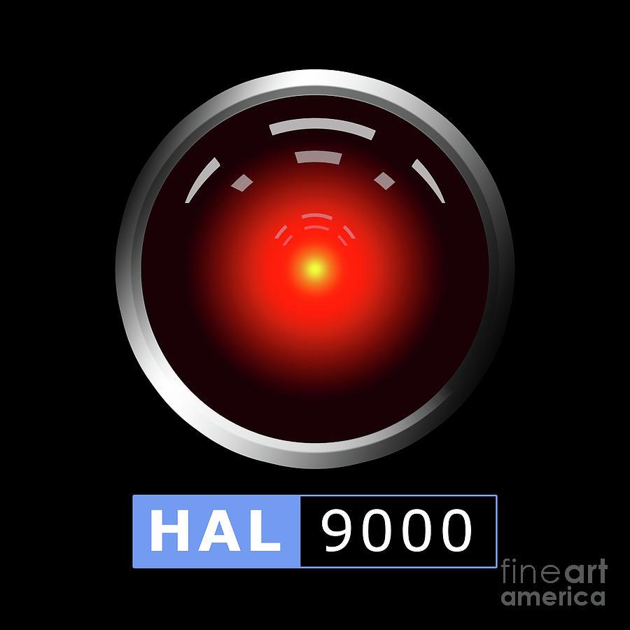 Hal 9000 Digital Art by Gaspar...