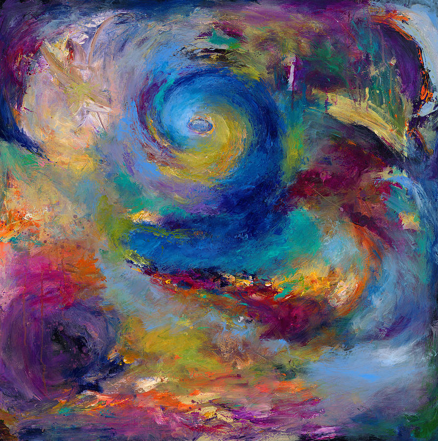 Abstract Expressionistic Painting - Halcyon Winds by Johnathan Harris