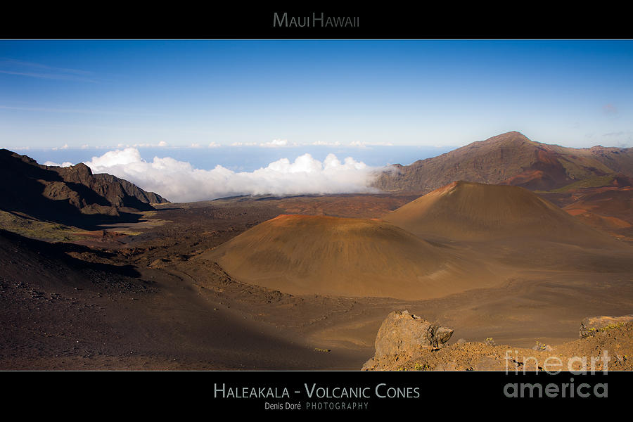 Above Photograph - Haleakal Volcanic Cones - Maui Hawaii Posters Series by Denis Dore
