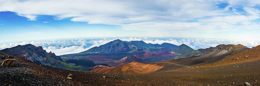 Afternoon Photograph - Haleakala Crater by Frank Testa