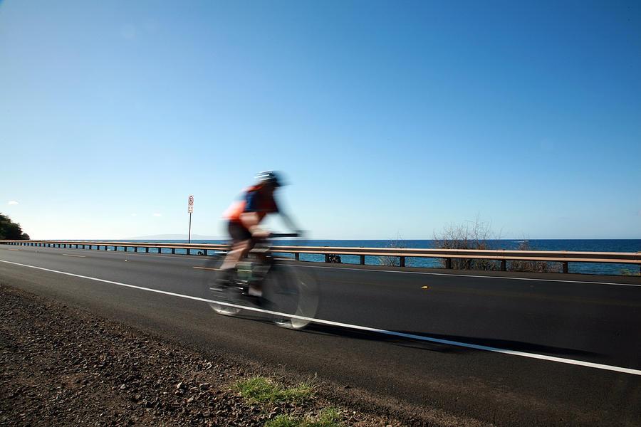 Acceleration Photograph - Haleakala Highway Bike Ride by Michael Ledray