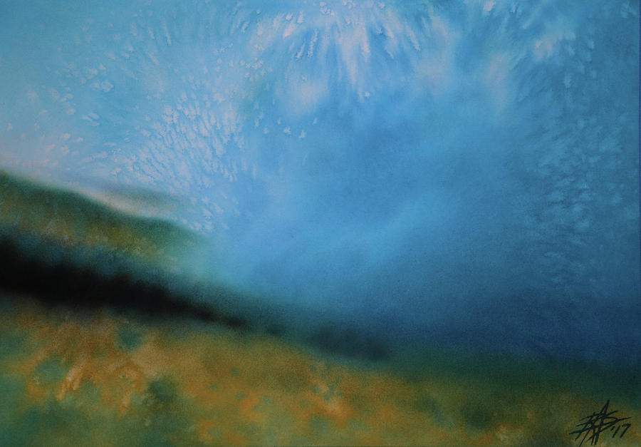 Landscape Mixed Media - Haleakala Mist by Robin Street-Morris