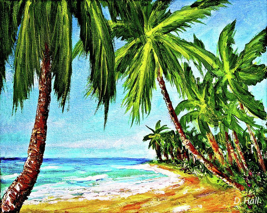 Haleiwa Beach Painting - Haleiwa Beach #369 by Donald k Hall