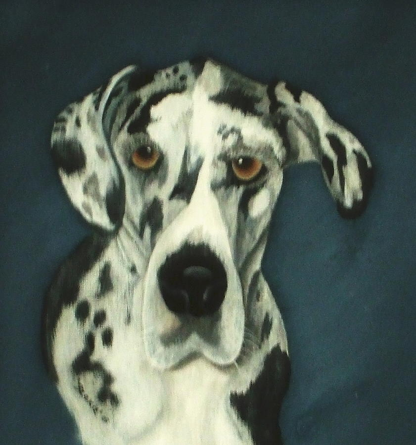Great Danes Painting - Haley by Rebecca  Fitchett