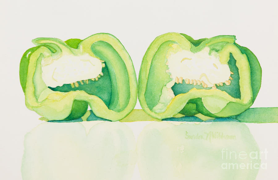 Food Painting - Half And Half by Sandra Neumann Wilderman