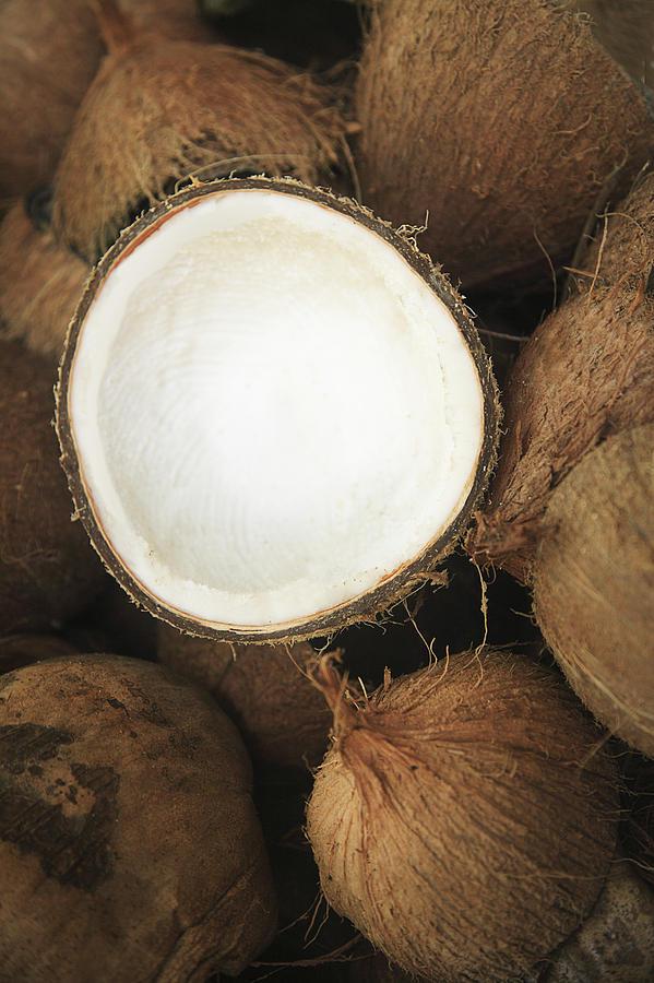 Arrange Photograph - Half Coconut by Brandon Tabiolo - Printscapes