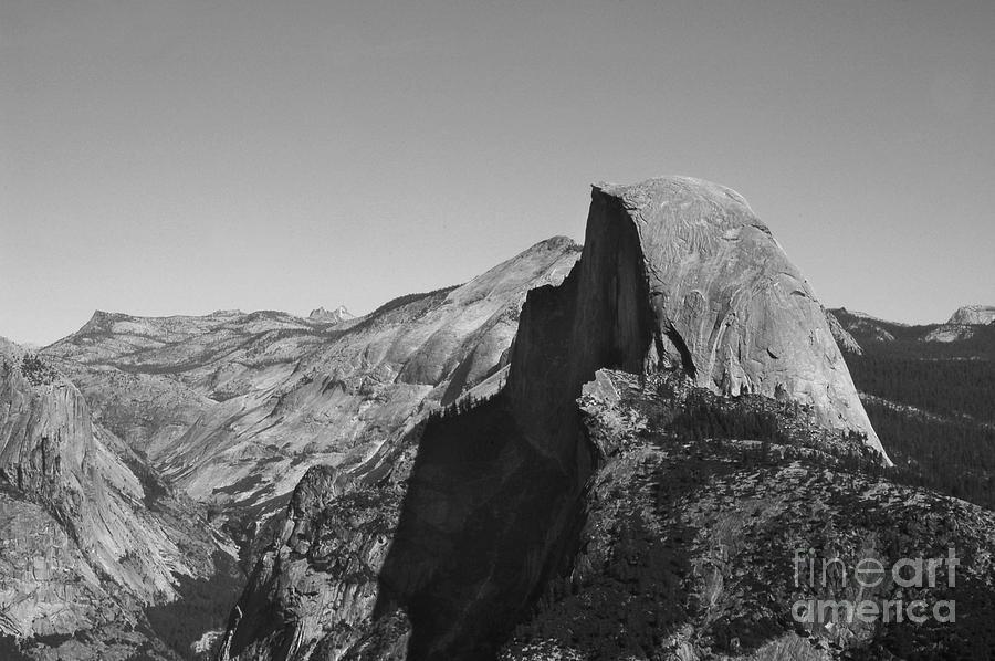 Landscape Photograph - Half Dome From Glacier Point by Richard Verkuyl
