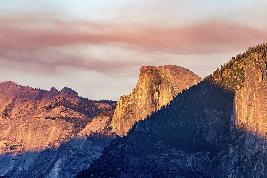 Half Dome In Sunset Photograph