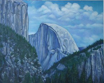 Half Dome At Yosemite Painting - Half Dome by Rand South