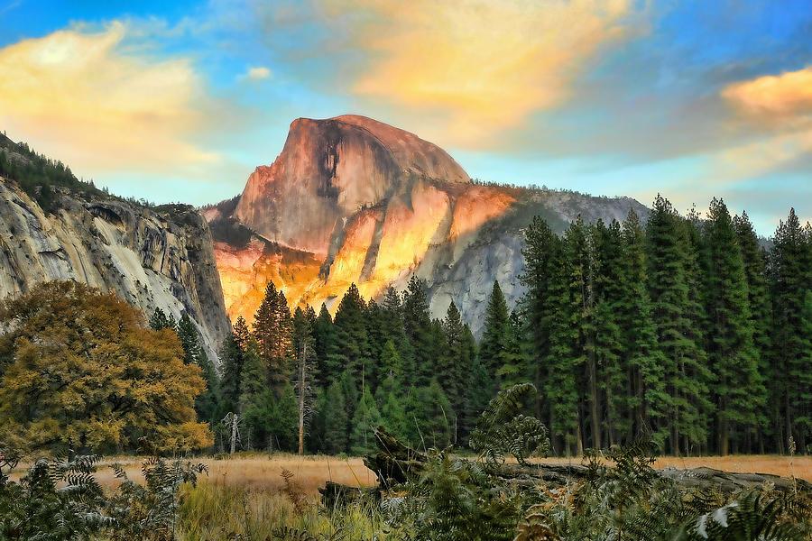 Yosemite National Park Photograph - Half Dome Sunset by Chuck Kuhn