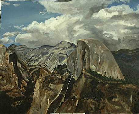Half Dome Painting by Travis Day