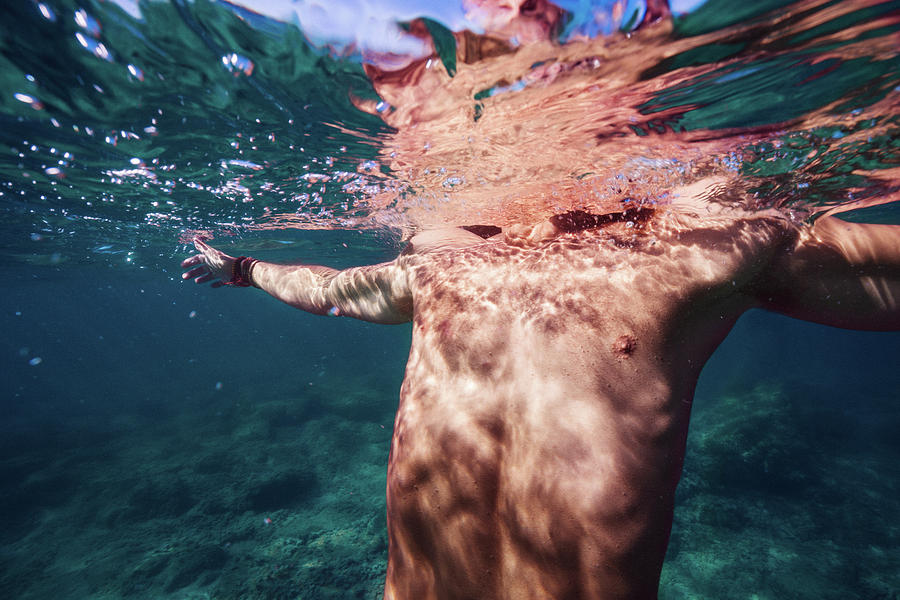 Swim Photograph - Half Man II by Gemma Silvestre