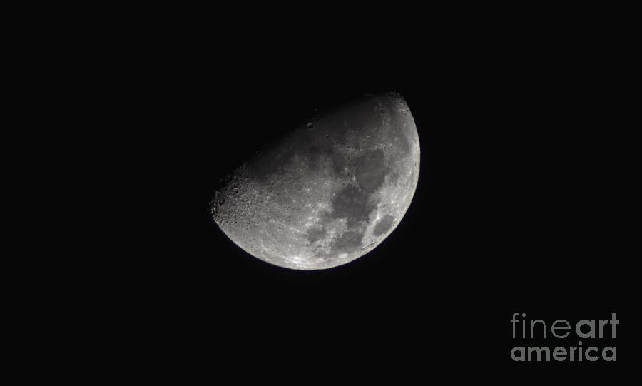 Half Moon Photograph - Half Moon In The Distance by Christopher Shellhammer