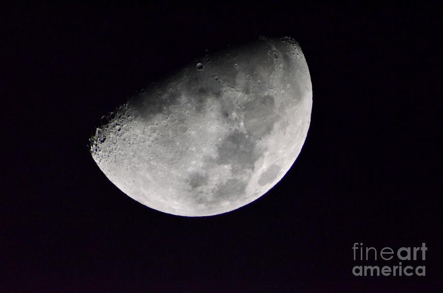 Half Moon Photograph - Half Moon Number Three by Christopher Shellhammer