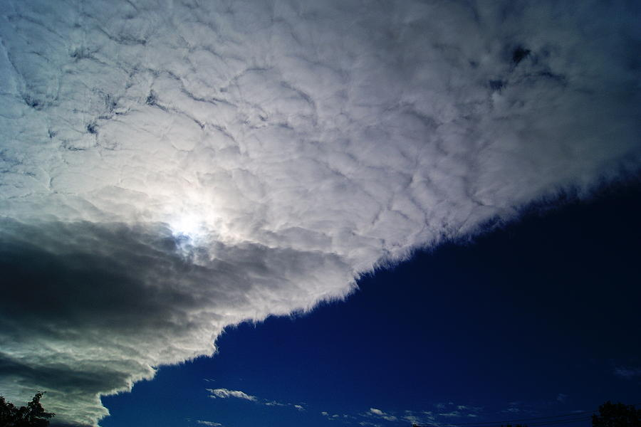 Clouds Photograph - Half N Half by Joshua Tillery
