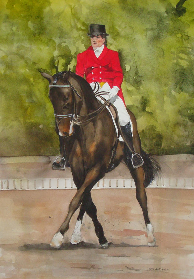 Horse Painting - Half-Pass To The Right by Jean Blackmer
