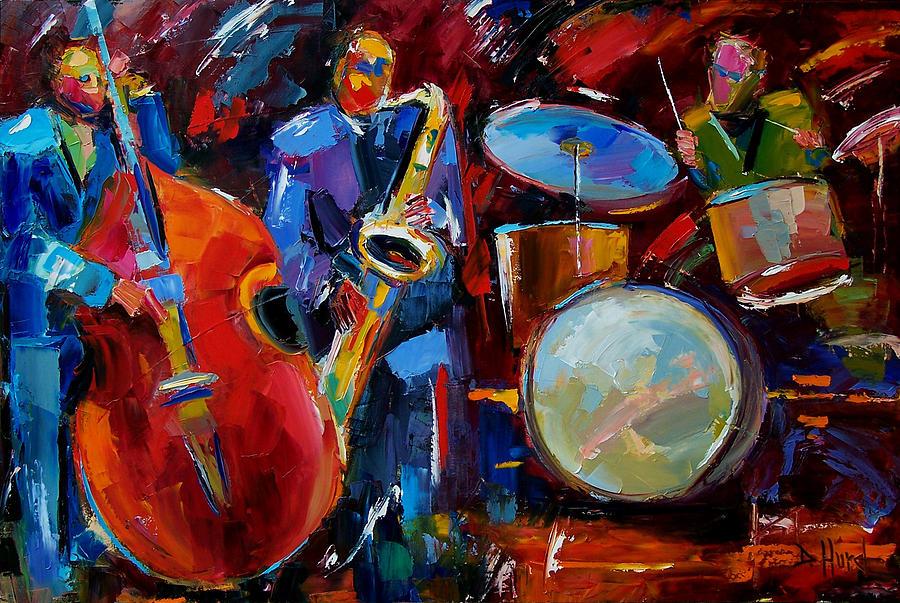 Music Painting - Half The Band by Debra Hurd