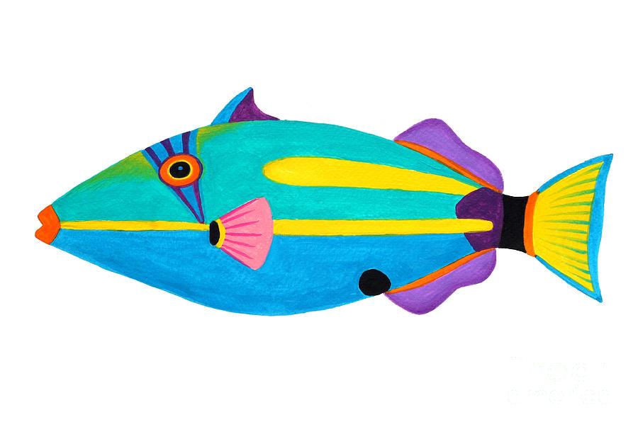 Animal Painting - Halfmoon Triggerfish  by Opas Chotiphantawanon