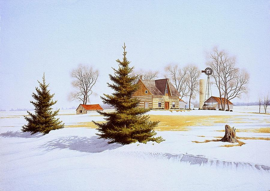 Landscape Painting - Halfway Into January by Conrad Mieschke