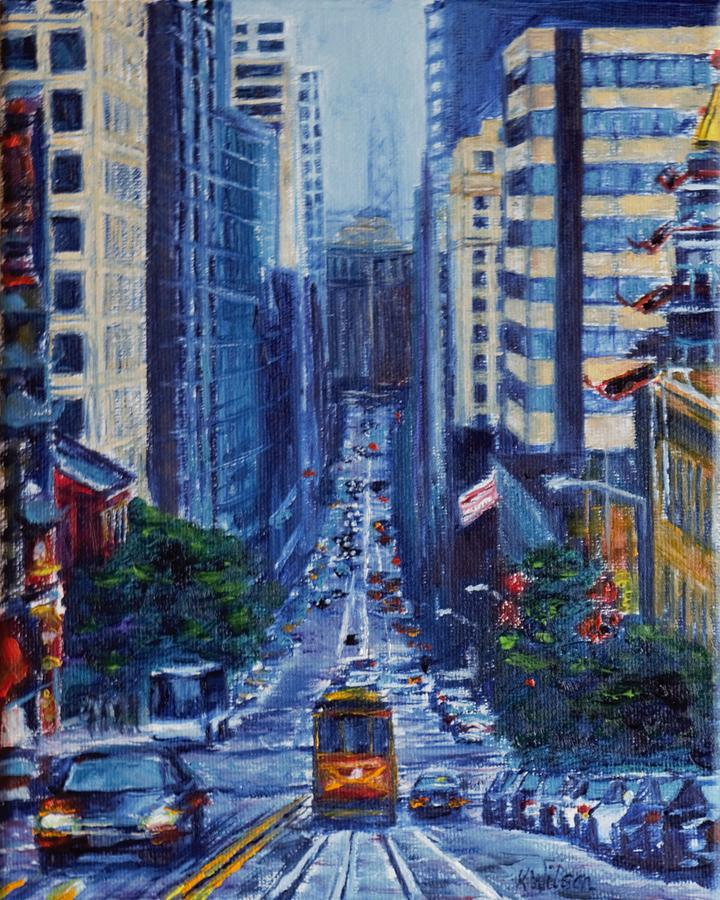 Cityscape Painting - Halfway To The Stars by Ken Wilson