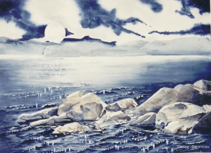 Rocks Painting - Haliburton-rocks by Nancy Newman