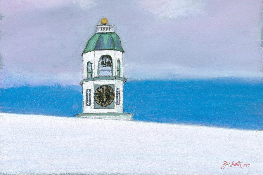 Halifax Pastel - Halifax Old Town Clock by Rae  Smith PSC